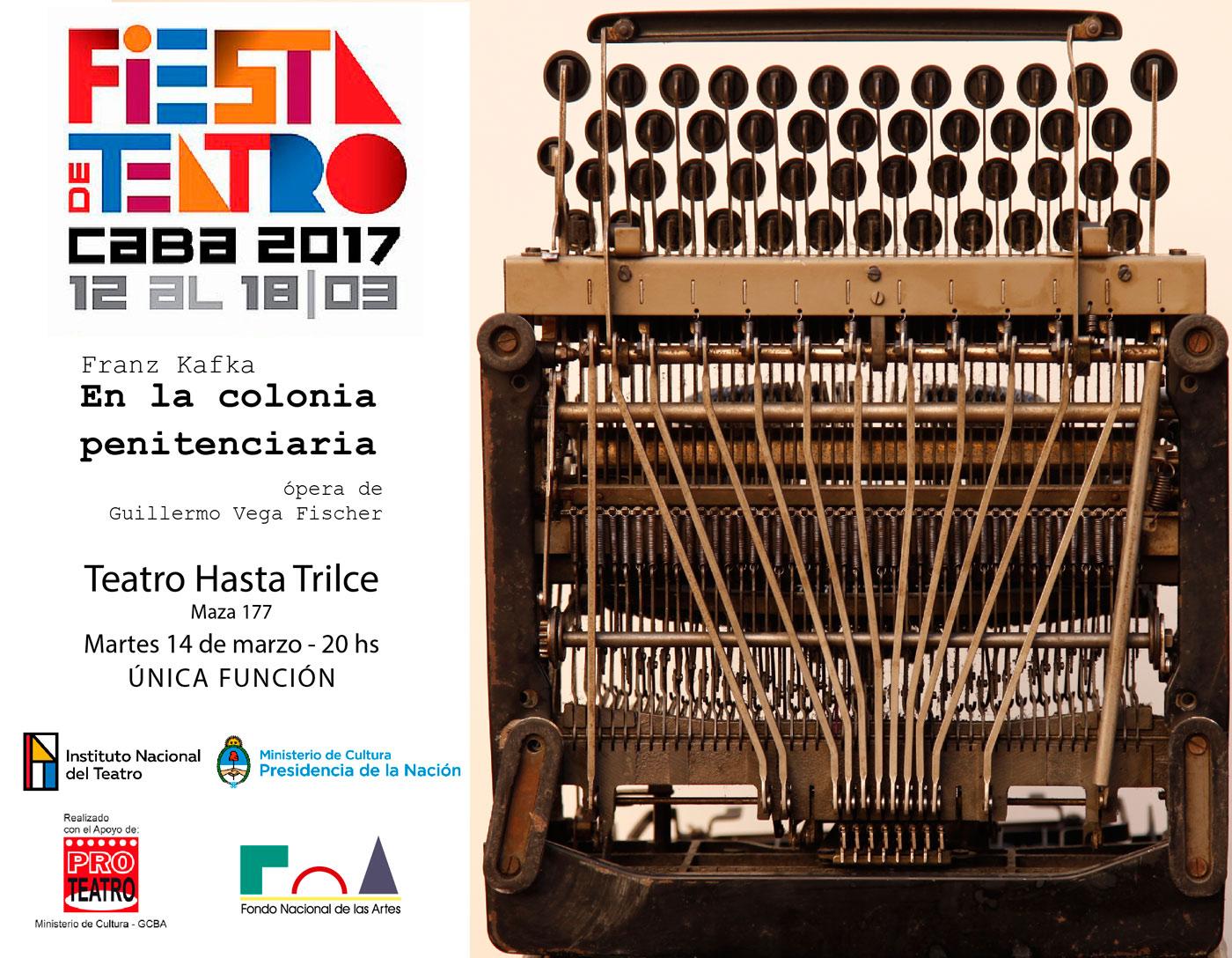 Pablo Archetti - Guillermo Vega Fischer - En la colonia penitenciaria - INT - FNA - PROTEATRO - Fiesta CABA INT TEATRO